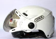 Mũ bảo hiểm nửa đầu 2 kính màu trắng GRS a966k